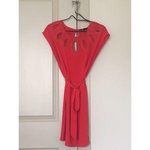 C. Luce Red Cut-Out Neckline Cocktail Dress